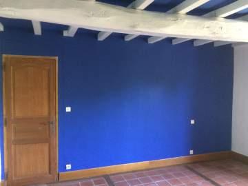 peinture des murs et des poutres bois anciennement lasurés
